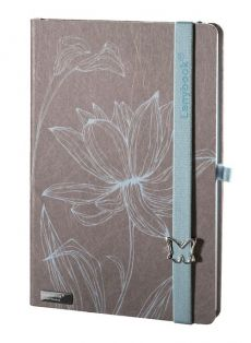 Notes A5 Lanybook Lovely Butterfly w linie szary