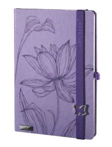 Notes A5 Lanybook Lovely Butterfly w linie fioletowy