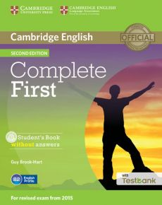 Complete First Student's Book without Answers + Testbank + CD - Guy Brook-Hart