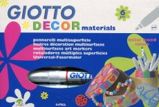 Giotto Decor materials Flamastry 6 sztuk - Outlet