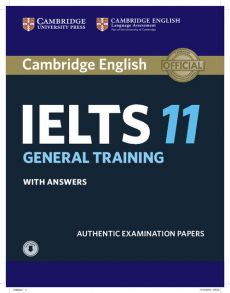 Cambridge IELTS 11 General Training Student's Book with answers with Audio - Outlet