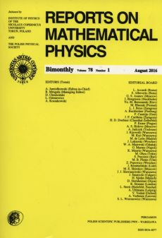 Reports on Mathematical Physics 78/1 2016 - Outlet