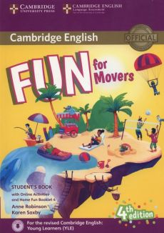 Fun for Movers Student's Book + Online Activities + Audio + Home Fun Booklet 4 - Anne Robinson, Karen Saxby