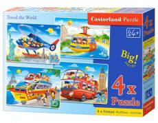 4x1 Puzzle 8-12-15-20 Travel the World