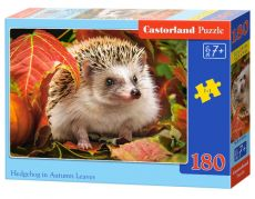 Puzzle 180 Hedgehog in Autumn Leaves