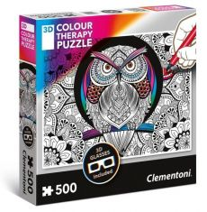Puzzle 500 Colour Therapy Sowa