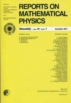 Reports on Mathematical Physics 80/3 2017 Pergamon - Outlet