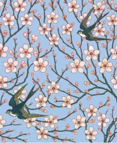 Karnet 17x14cm z kopertą Almond Blossom and Swallow