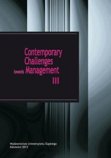 Contemporary Challenges towards Management III - 13 Interactions with the environment as a factor of absorptive capacity