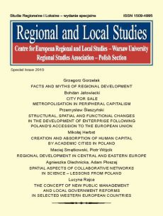 Regional and Local Studies, special issue 2010