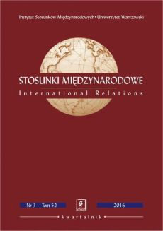 Stosunki Międzynarodowe nr 3(52)/2016 - Maciej Raś: Aktywność międzynarodowa regionów (paradyplomacja) w ujęciu teoretycznym [International Activity of Regions (Paradiplomacy) in Theoretical Approach]