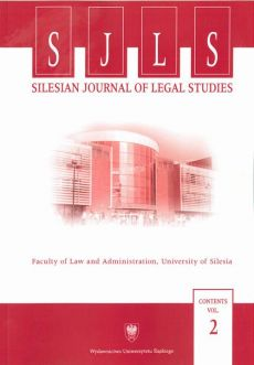 """""""Silesian Journal of Legal Studies"""". Contents Vol. 2"""