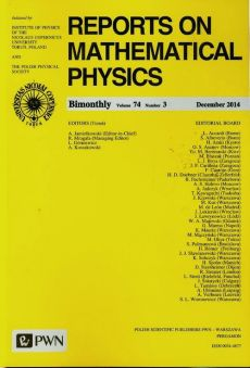 Reports on Mathematical Physics 74/3 2014