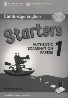 Cambridge English Starters 1 Authentic Examination Papers Answer Booklet