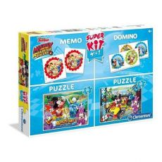 Super Kit Puzzle 2x30 + Memo + Domino Mickey and the Roadster Racers
