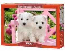 Puzzle 1500 White Terrier Puppies