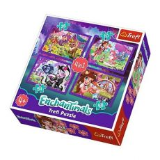 Puzzle 4w1 Zabawa z pupilami Enchantimals