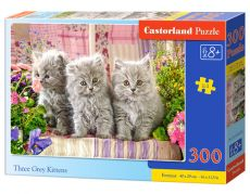 Puzzle Three Grey Kittens 300