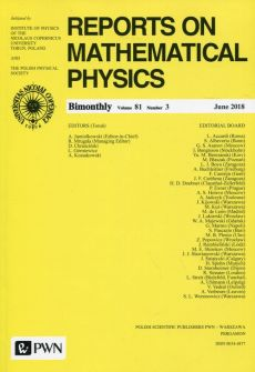Reports on Mathematical Physics 81/3 2018 Kraj