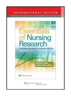 Essentials of Nursing Research 9e - Outlet - Beck Cheryl Tatano, Polit Denise F.