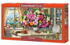 Puzzle 4000 Summer Flowers and Cup of tea
