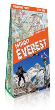 Mount Everest laminowana mapa trekkingowa