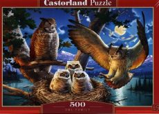 Puzzle 500 Owl Family
