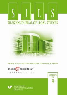 """""""Silesian Journal of Legal Studies"""". Vol. 9 - 06 Legal Aspects of NATO in the Aegean Sea Migrant Crisis"""