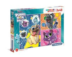 Puzzle Supercolor Puppy dog pals 3x48