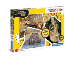 Puzzle 104 Supercolor National Geographic Kids