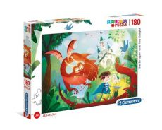 Puzzle 180 Supercolor The Dragon and the Knight