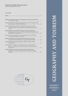 Geography and Tourism 2019 volume 7 number 2