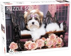 Puzzle Yorkshire Terrier with Roses 500