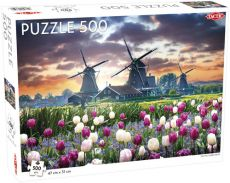 Puzzle Old Mills and Tulips 500