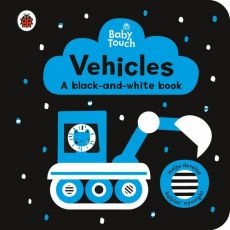 Baby Touch Vehicles a black and white book